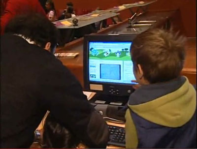 Bambini che interagiscono con il blog di rural4kids