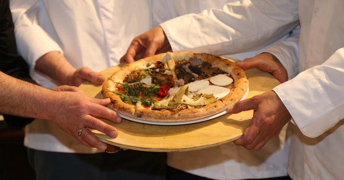 La pizza a cinque spicchi