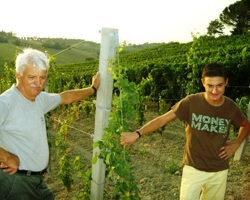Federico Facciani con suo padre